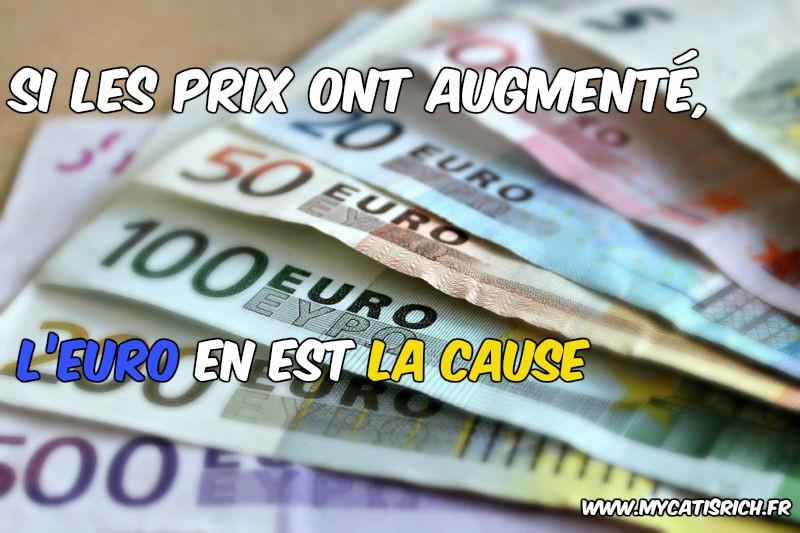 l'euro la cause des prix augmentés